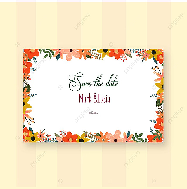 Wedding Invitation Card ,Save the Date Template for Free Download on