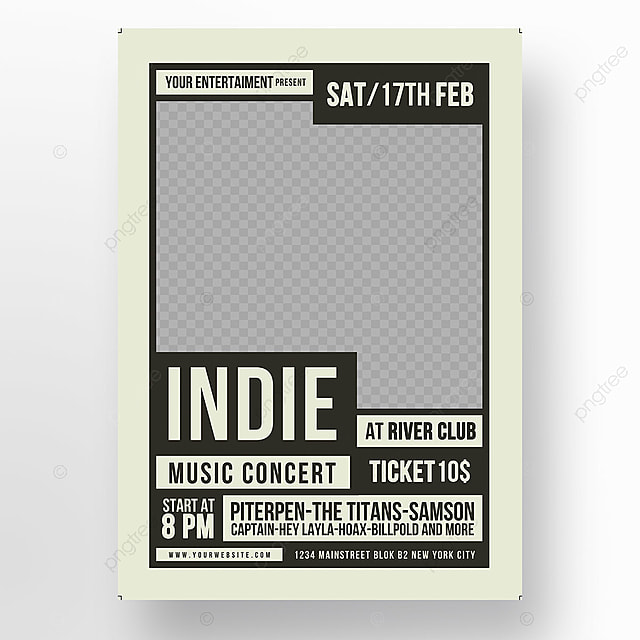 Indie Music Flyer Template for Free Download on Pngtree
