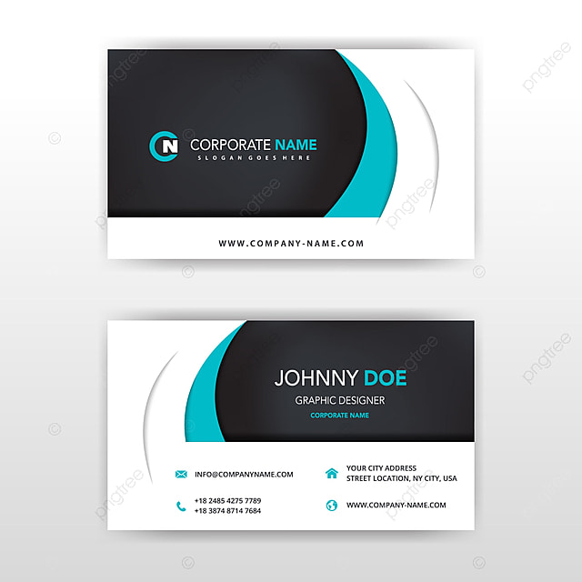 modern vector double sided business card design Template for Free