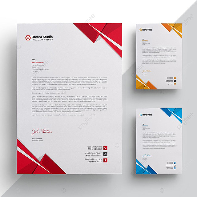 Modern company letterhead Template for Free Download on Pngtree