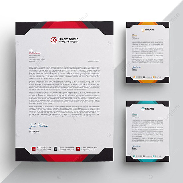 Modern company letterhead Template for Free Download on Pngtree - company letterhead template