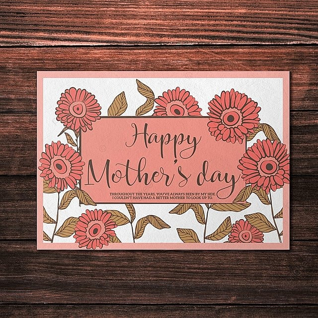 Happy Mother\u0027s Day Card Template Template for Free Download on Pngtree