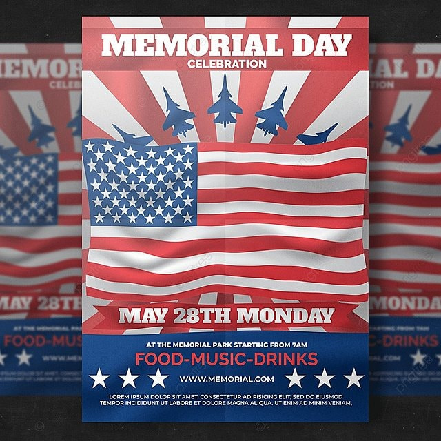 Patriots Day Flyer Template for Free Download on Pngtree