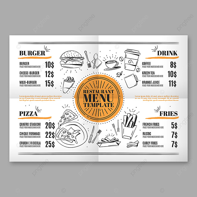 Fast Food Menu Template Template for Free Download on Pngtree - food menu template