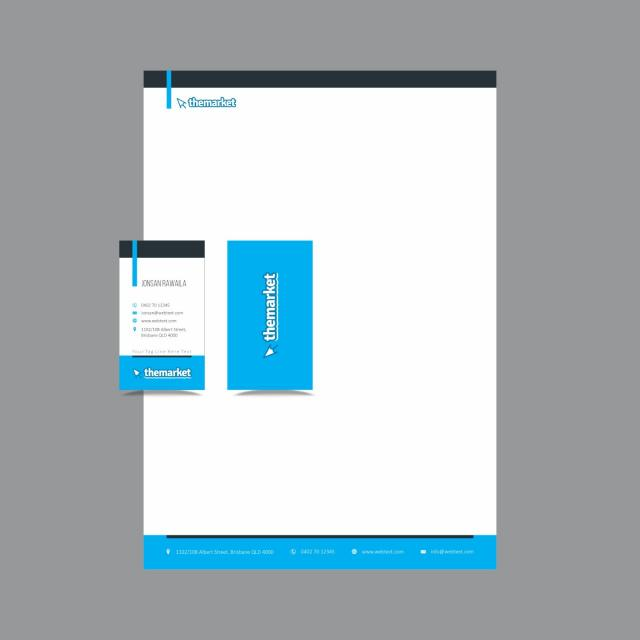 Professional Business Card and letterhead Design layout fully