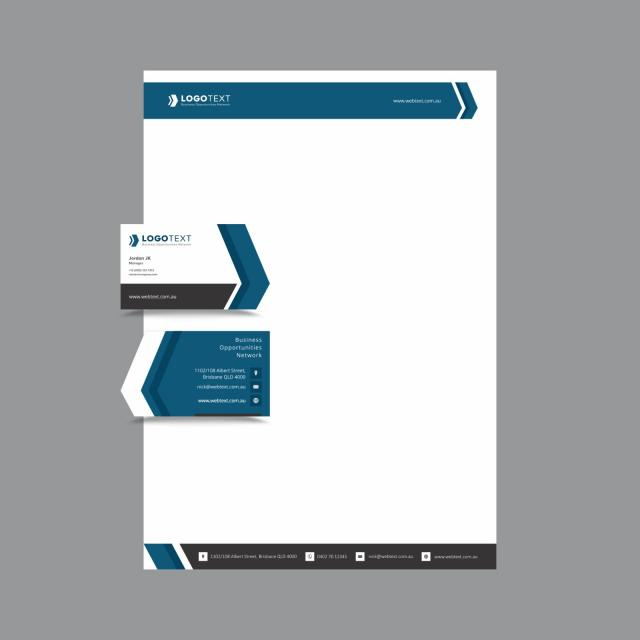 Professional Business and letterhead Design layout fully editable - letterhead layout
