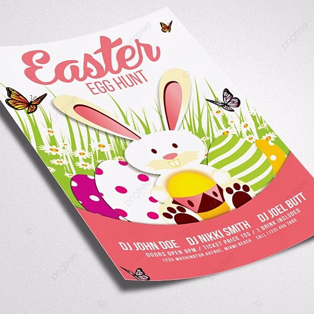 Spring and Easter Flyer Template Template for Free Download on Pngtree