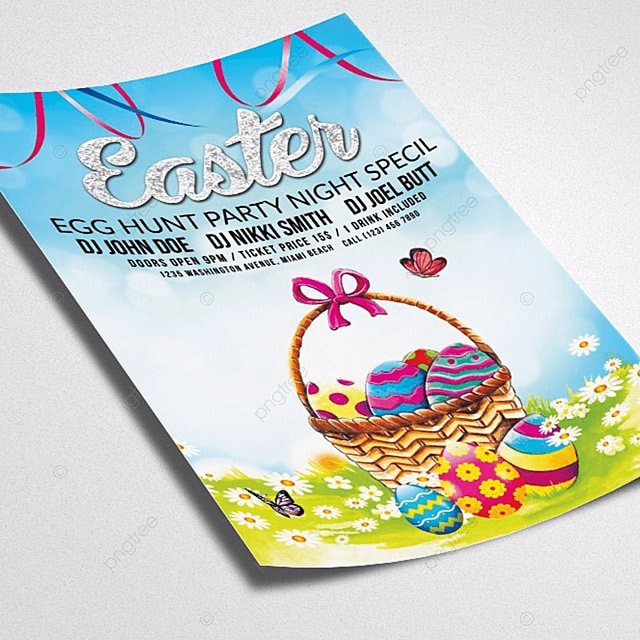 Spring and Easter Flyer Template Template for Free Download on Pngtree - easter flyer template