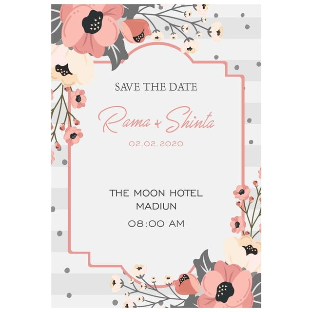 Silver Flower Wedding card Template for Free Download on Pngtree