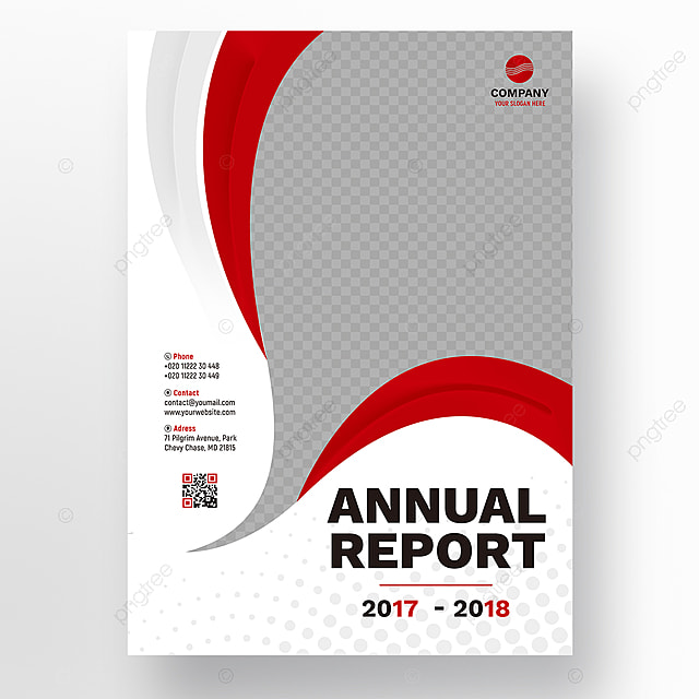Red wavy annual report template Template for Free Download on Pngtree - annual report template
