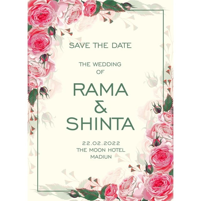 Roses Wedding Card Template for Free Download on Pngtree - wedding card template