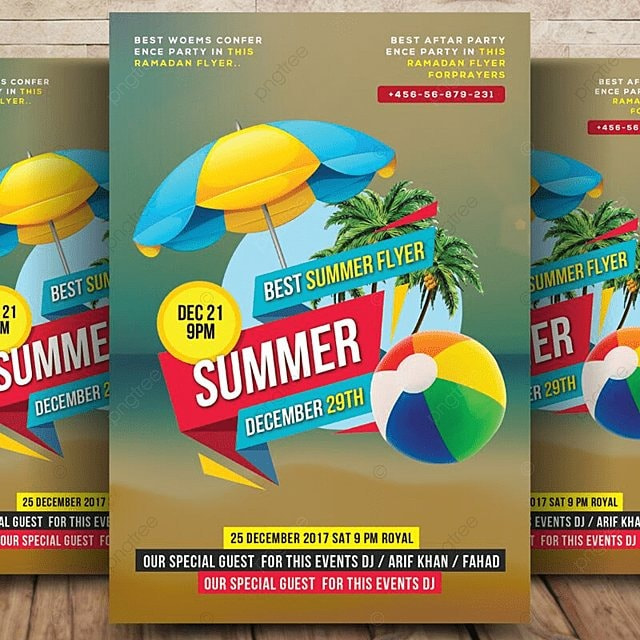 Summer Flyer Template for Free Download on Pngtree