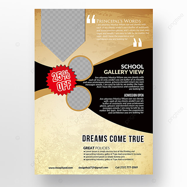 School Education Flyer Templates Template for Free Download on Pngtree