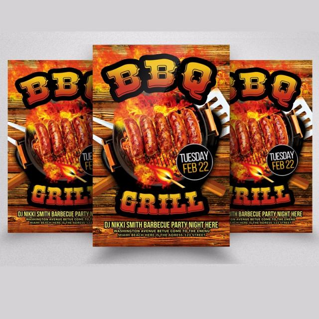 Barbecue Flyer Template Template for Free Download on Pngtree