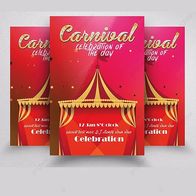 Carnival Flyer Templates Template for Free Download on Pngtree