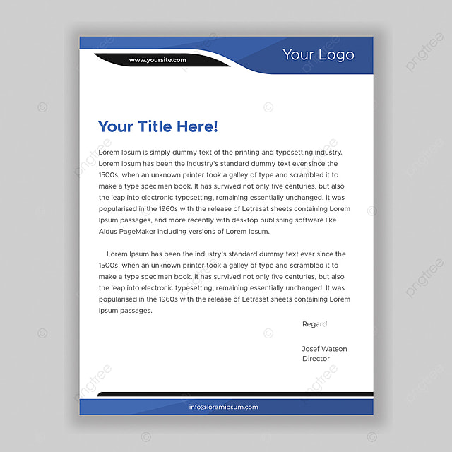 Professional letterhead design Template for Free Download on Pngtree