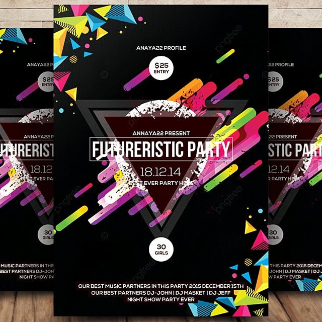 Electro Future Flyer Template Template for Free Download on Pngtree