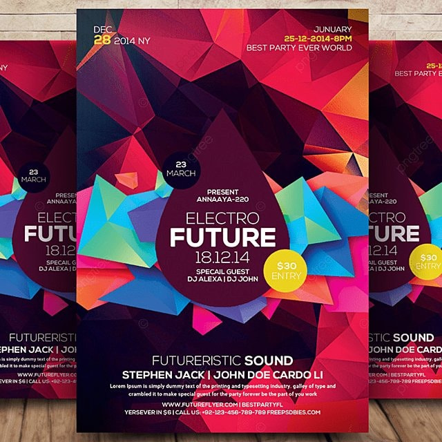 Electro Flyer Template for Free Download on Pngtree