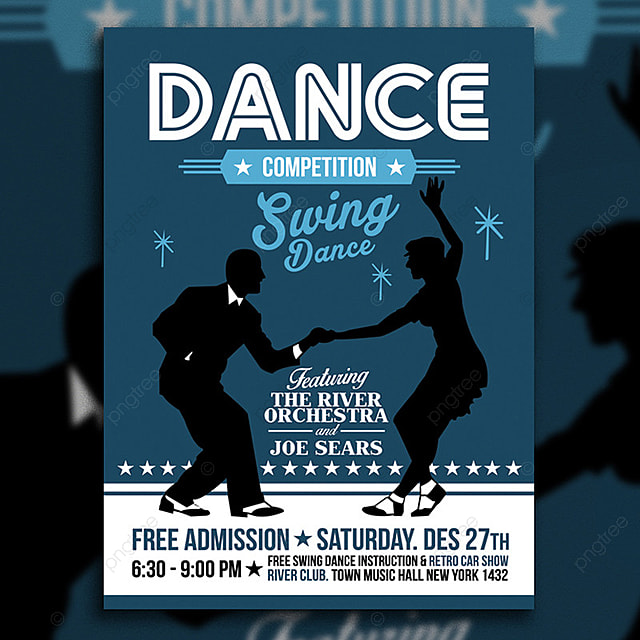Swing Dance Competition Poster Template for Free Download on Pngtree