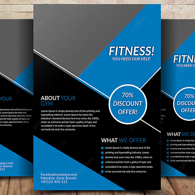 Fitness Flyer Template Template for Free Download on Pngtree