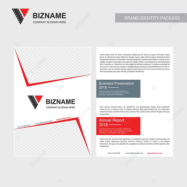 Company brochure with creative design vector also with video