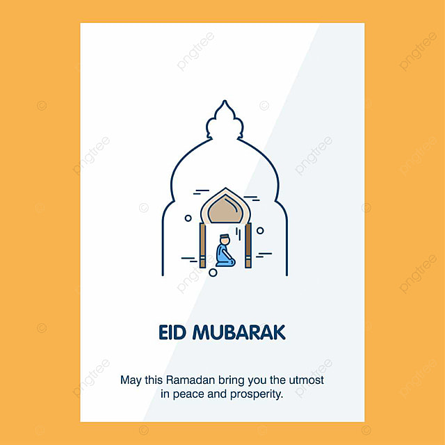 Eid Mubarak Vector card Template for Free Download on Pngtree