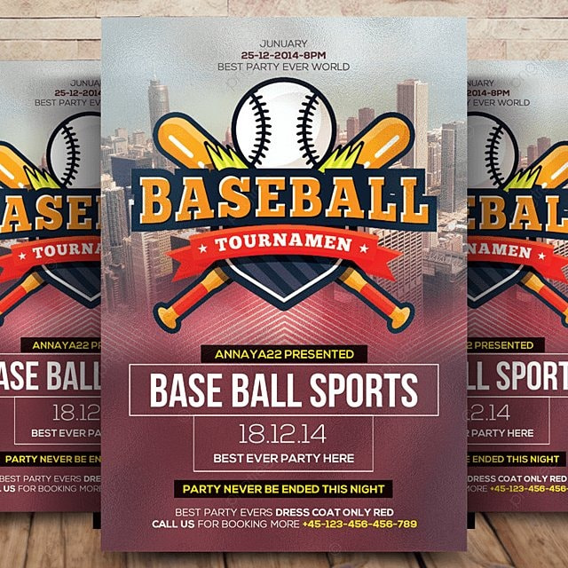Baseball Flyer Template Template for Free Download on Pngtree