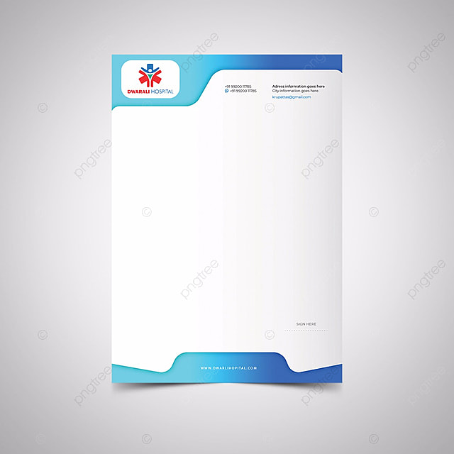 Hospital Letterhead stationery Template for Free Download on Pngtree