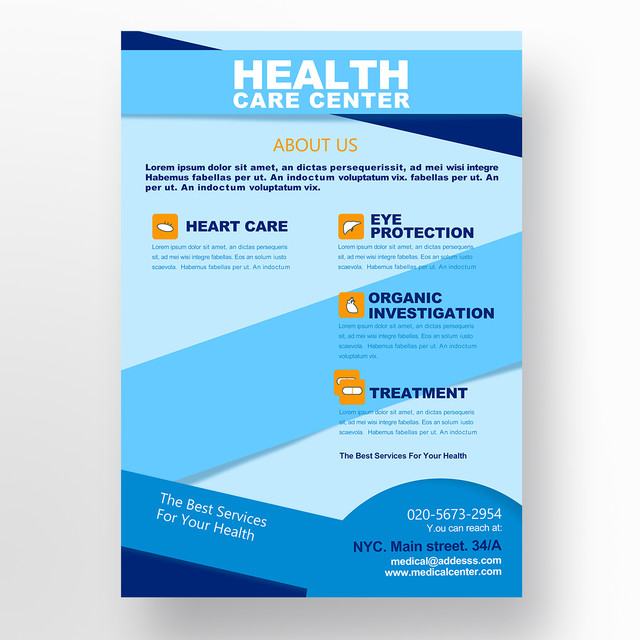 Medical flyer Template for Free Download on Pngtree