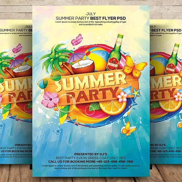 Summer Flyer Template for Free Download on Pngtree - summer flyer template