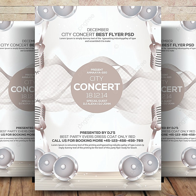 City Lights Concert Flyer Template Template for Free Download on