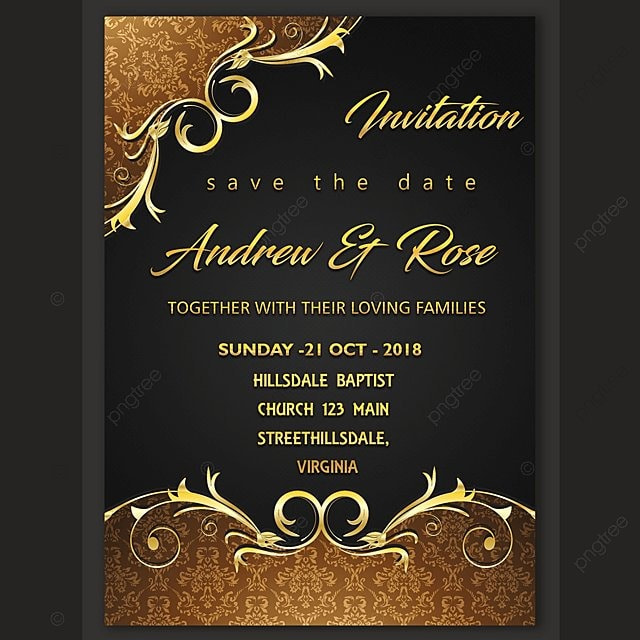 Wedding invitation card design template Template for Free Download