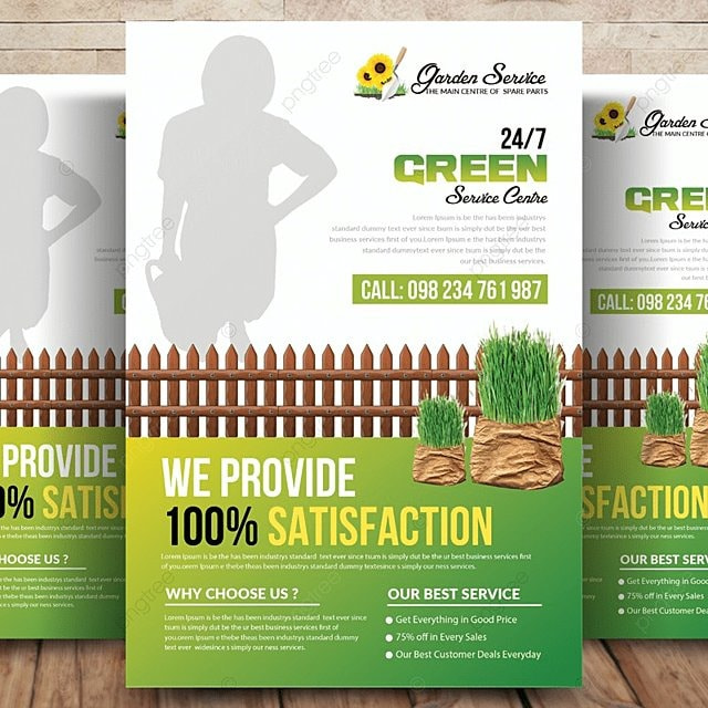 Garden Services Flyer Template Template for Free Download on Pngtree