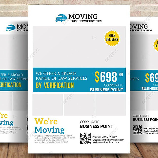 Moving House Service Flyer Templates Template for Free Download on