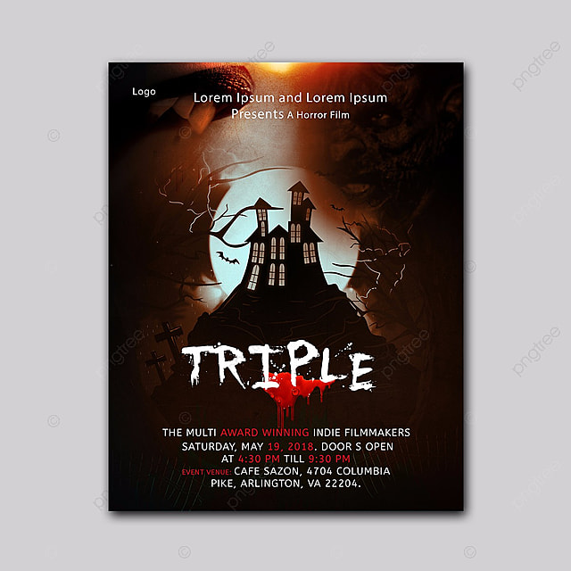 Horror Movie Poster Template for Free Download on Pngtree