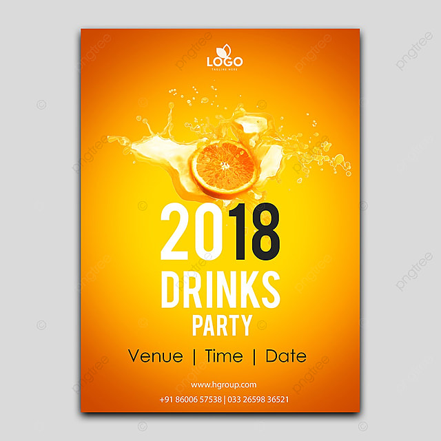 Orange Drinking poster design Template for Free Download on Pngtree