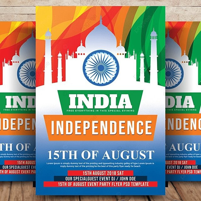 Indian Independence Day Flyer Template for Free Download on Pngtree