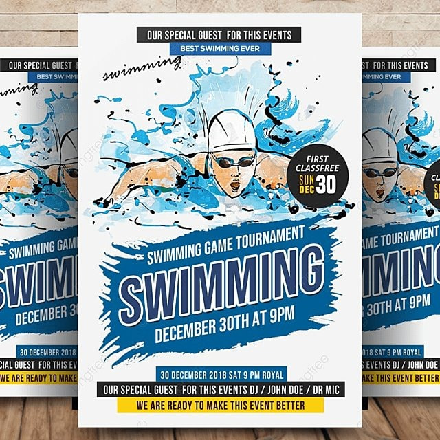 Swimming Competition Flyer Template for Free Download on Pngtree