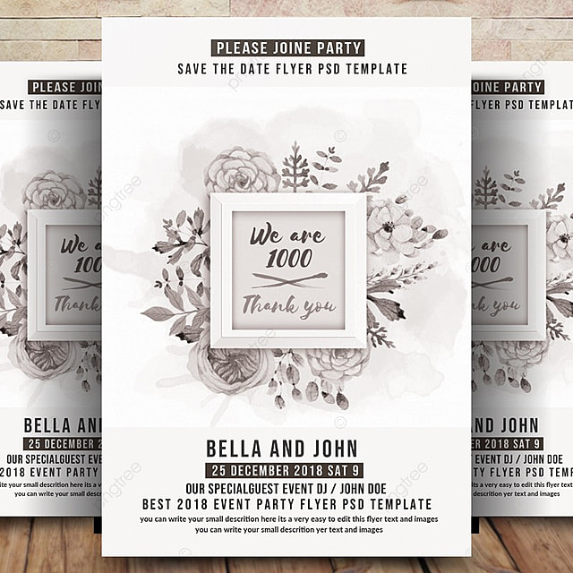 Wedding Invitation amp; Save the Date Template for Free Download on