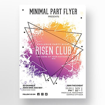 Flyer Template Png, Vectors, PSD, and Clipart for Free Download