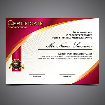 Certificate Design Templates, 105 Design Templates for Free Download