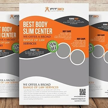 Body Flyer Template Templates, 7 Design Templates for Free Download