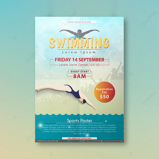 swimming competition poster design Template for Free Download on Pngtree