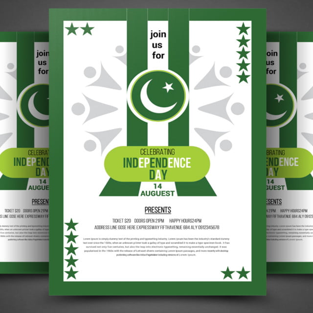 pakistan independence day flyer Template for Free Download on Pngtree