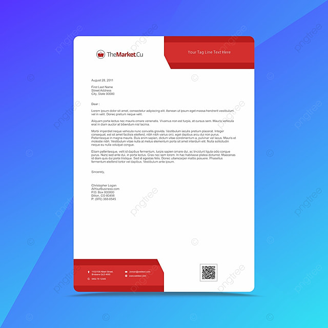 Professional Business Letterhead Design Template Template for Free