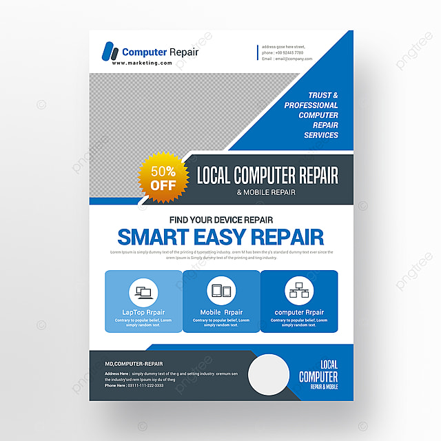 Computer Repair Flyer Template for Free Download on Pngtree - computer repair flyer template