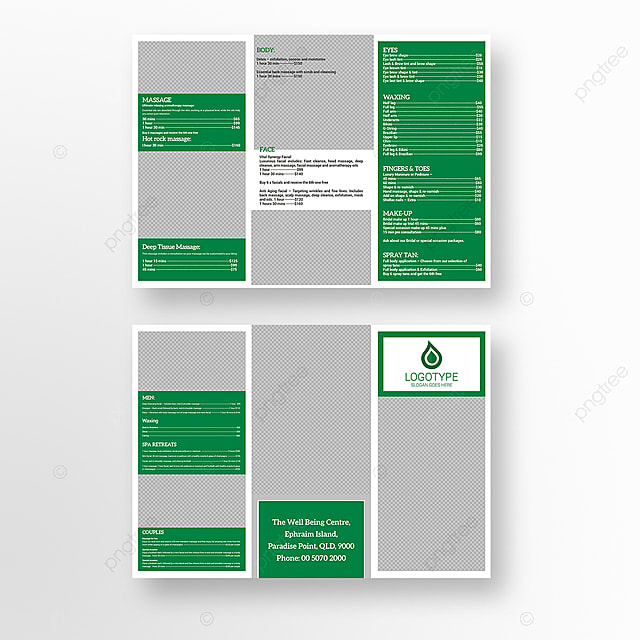 Spa Brochure Template for Free Download on Pngtree
