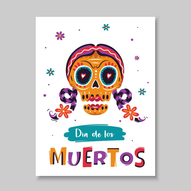 the colorful festive poster for the mexican day of the dead dia