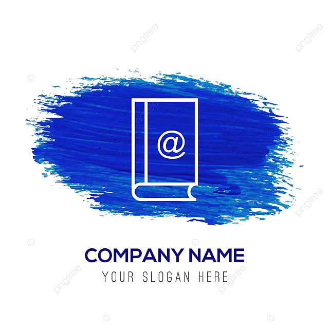 contact book icon - blue watercolor background Template for Free