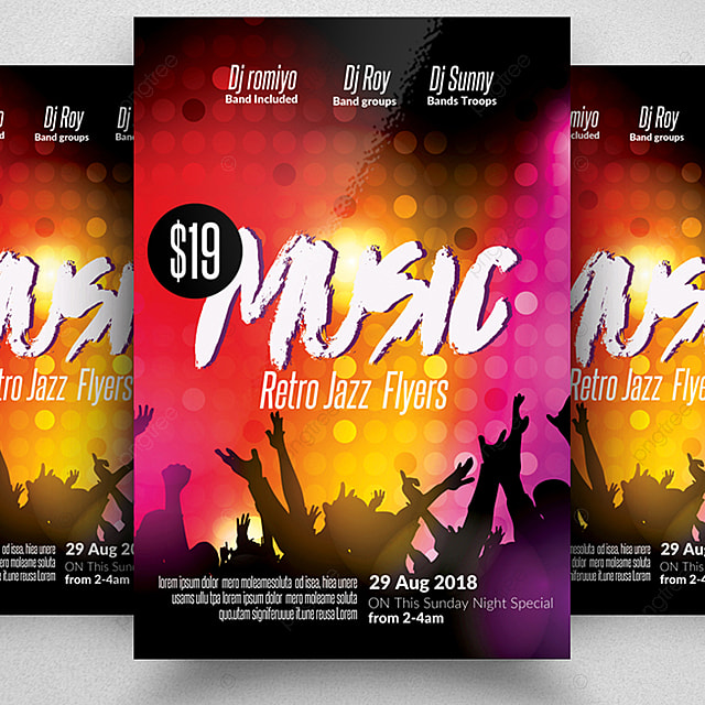Music Concert Flyer Template Template for Free Download on Pngtree